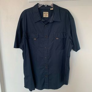 Red Head Cotton Twill Short Sleeve Collared Shirt